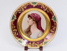 'VIENNA' PAINTED PORCELAIN CABINET PLATE