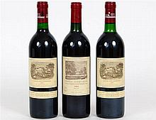 THREE BOTTLES OF FRENCH VINTAGE RED WINE