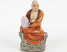 CHINESE PORCELAIN SEATED TAOIST PRIEST