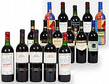 SIXTEEN BOTTLES, CALIFORNIA, FRENCH AND ITALIAN RED WINES