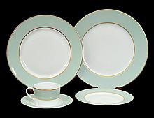 ONE HUNDRED, TWENTY-TWO PIECE LIMOGES PORCELAIN PART DINNER SERVICE