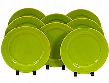 SET OF EIGHT WAECHTERSBACH FAIENCE SALAD PLATES