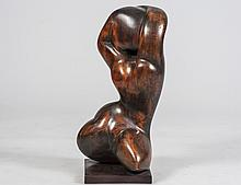 EARLY 20TH CENTURY AMERICAN FIGURATIVE WOOD SCULPTURE