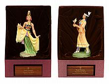 TWO ROYAL DOULTON DANCERS OF THE WORLD FIGURINES