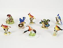 GROUP OF EIGHT ROYAL DOULTON ORNITHOLOGICAL FIGURES