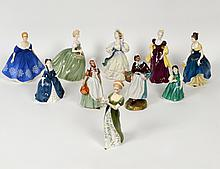 GROUP OF TEN ROYAL DOULTON FIGURES