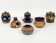 GROUP OF SIX ROYAL DOULTON VESSELS