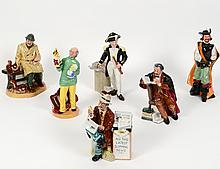 GROUP OF SIX ROYAL DOULTON FIGURES