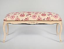 LOUIS XV STYLE PAINTED WOOD WINDOW SEAT