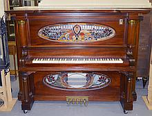 EARLY 20TH CENTURY NICKELODEON STYLE PLAYER PIANO