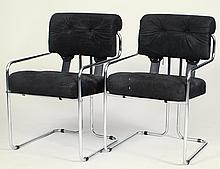 "PAIR OF GUIDO FALESCHINI ""TUCROMA"" CHAIRS"