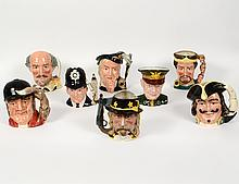 GROUP OF SEVEN ROYAL DOULTON TOBY MUGS