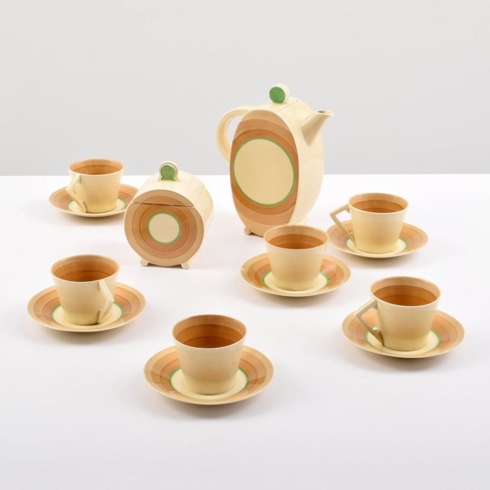 Clarice Cliff BIARRITZ Tea Service, 14 Pieces