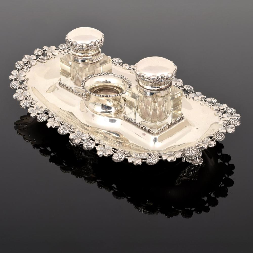 Black Starr & Frost Sterling Silver Ink Stand/Well