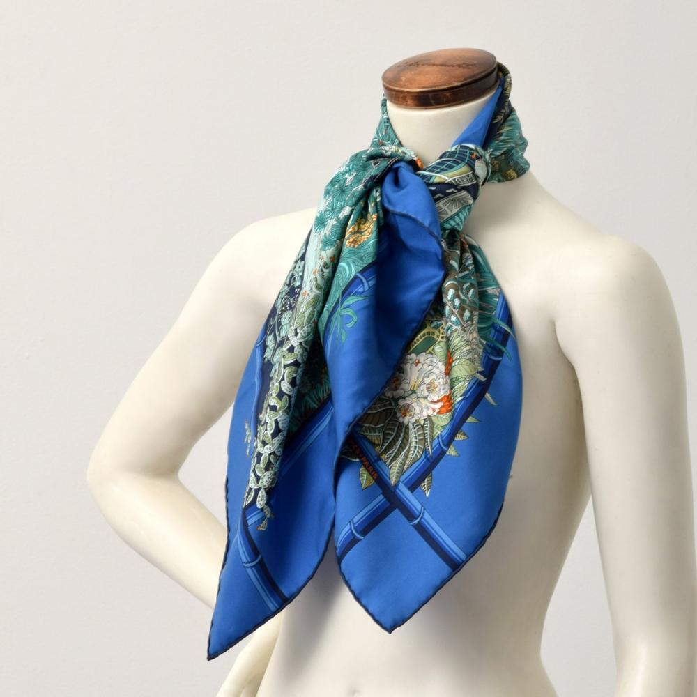 Hermes JARDINS D'HIVER Silk Scarf