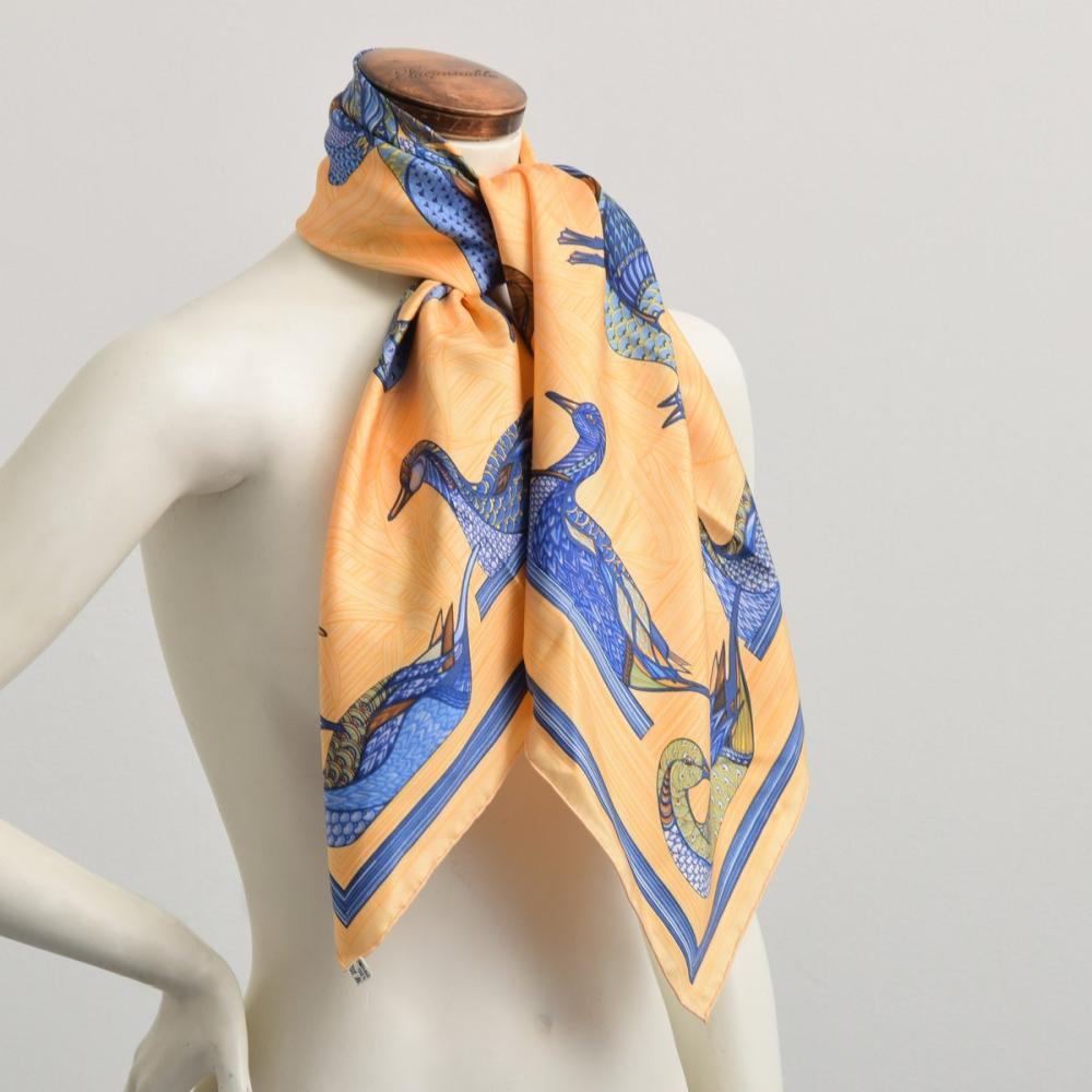 Hermes LA MARE AUX CANARDS Silk Scarf