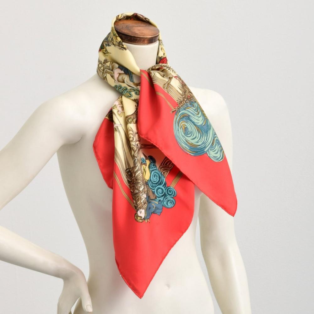 Hermes AU FIL DE LA SOIE Silk Scarf