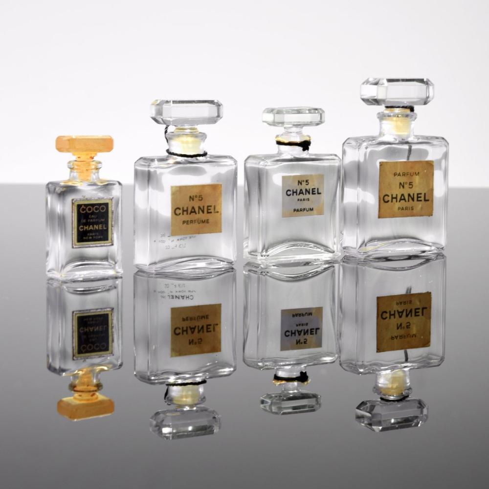 4 Chanel Perfume Bottles