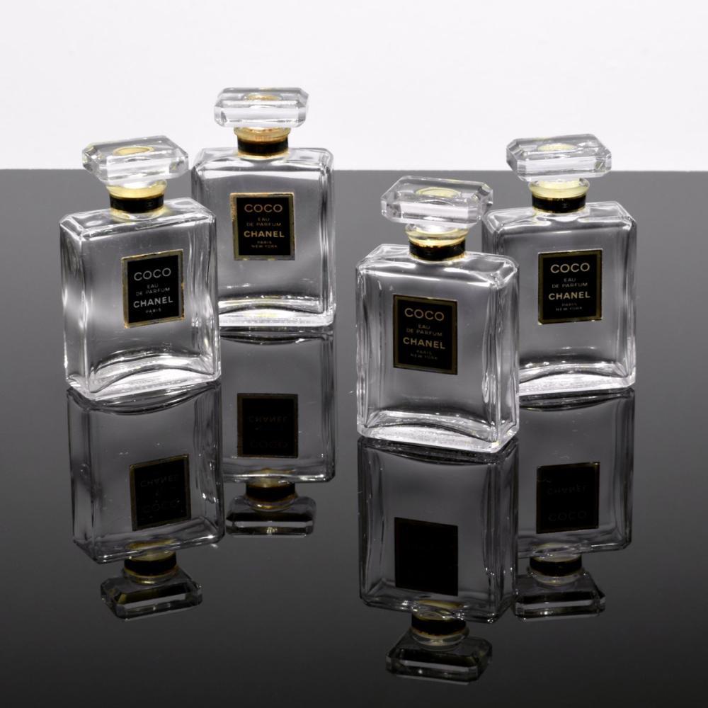 4 Chanel COCO Perfume Bottles