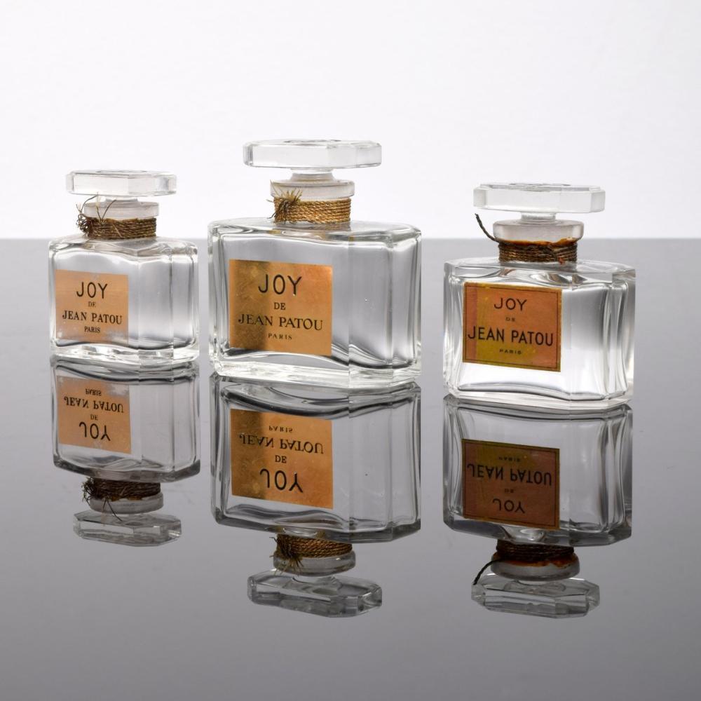 3 Jean Patou JOY Perfume Bottles