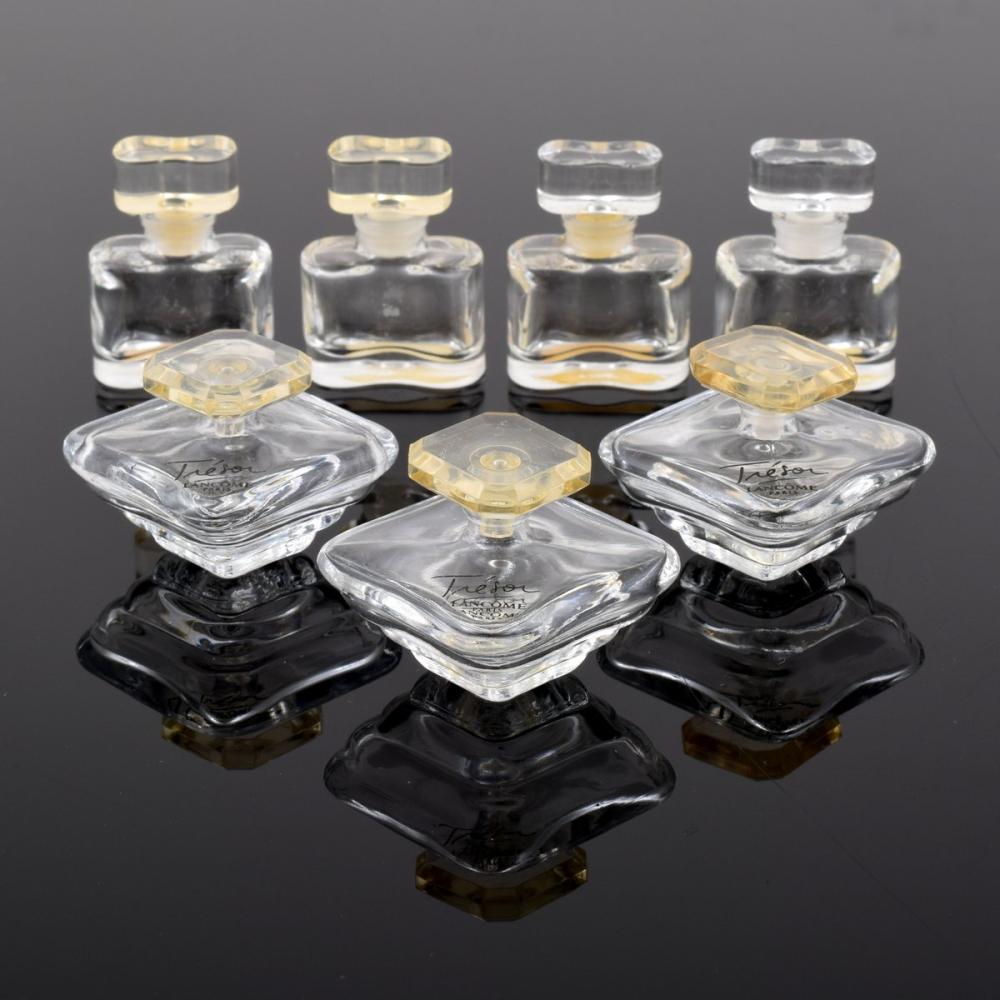 7 Perfume Bottles, WHITE LINEN & TRESOR