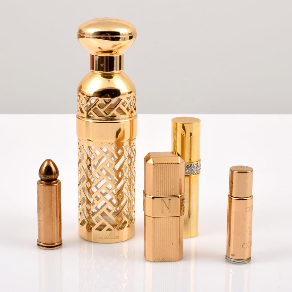 5 Perfume Bottles/Refill Cases