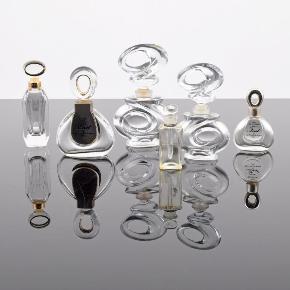 6 Perfume Bottles; Chanel, Galanos, Van Cleef & Arpels...