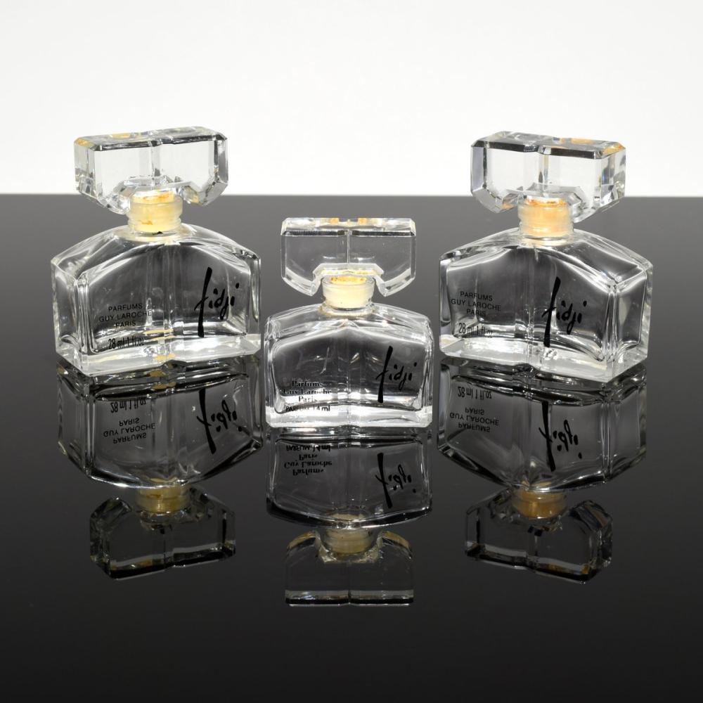 3 Guy Laroche FIDJI Perfume Bottles