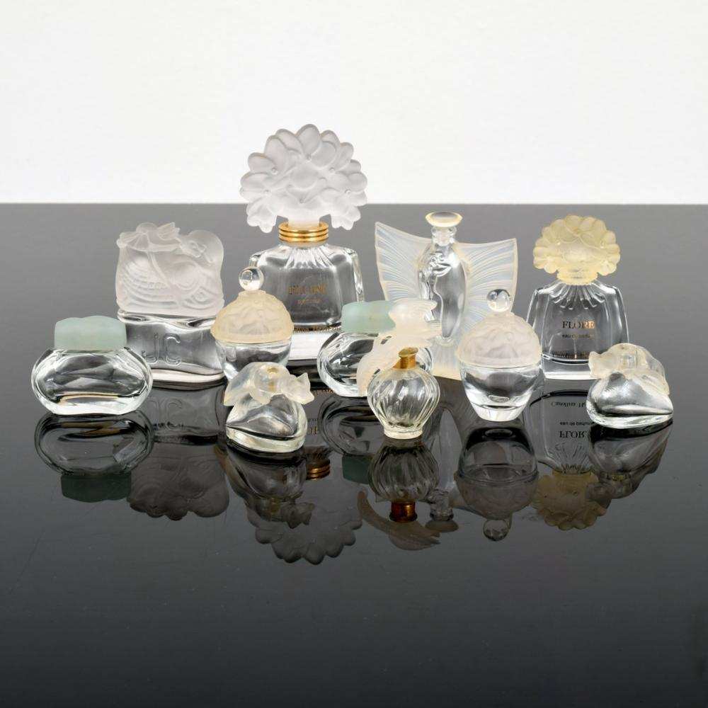 11 Perfume Bottles; Caroline Herrera, Jean Couturier...