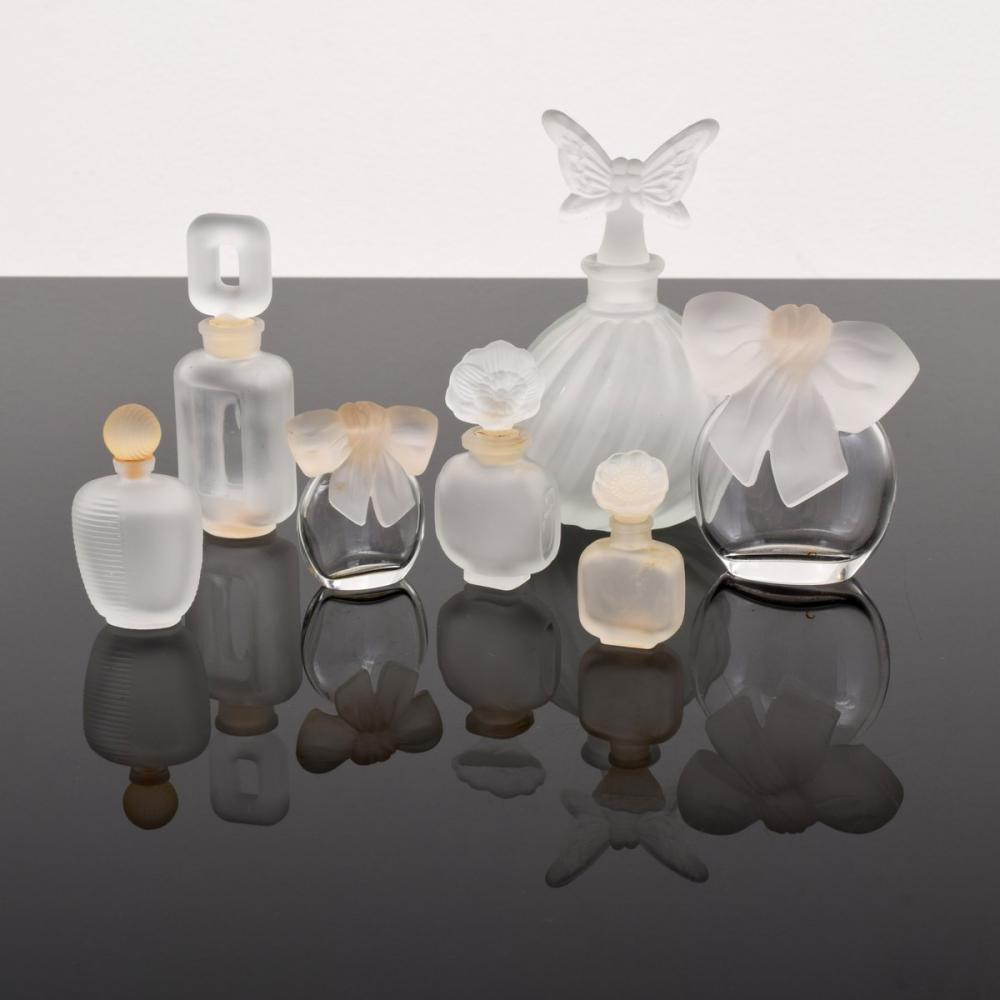 7 Perfume Bottles; Albert Nippon, Balenciaga...