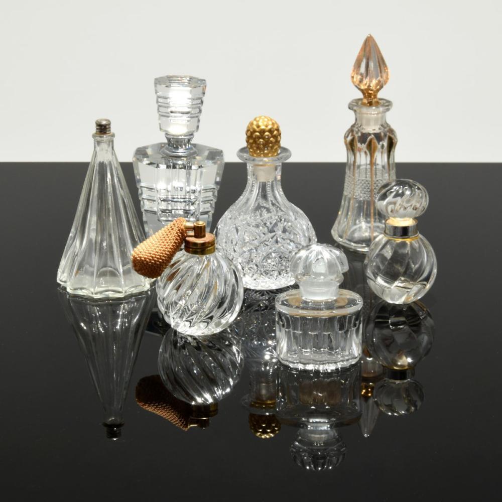 7 Perfume Bottles; Balenciaga, Borghese...