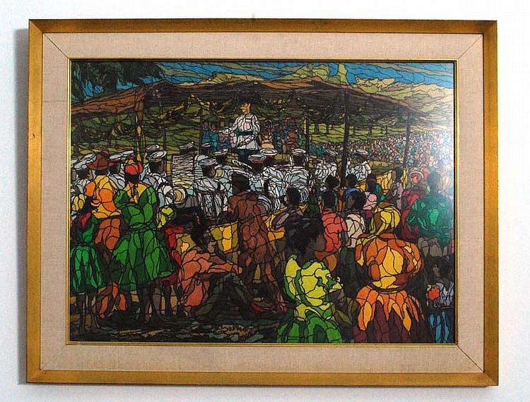 Large Neville Budhai Painting