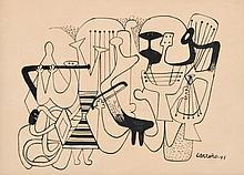 Mario Carreno Ink Work, Original Work