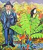 Large Hunt Slonem Painting, Original Work, Hunt Slonem, $8,000