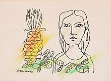 Mariano Rodriguez Ink / Pastel Drawing, Original Work