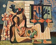 Mario Carreno BIRD HOUSE Painting, Original Work