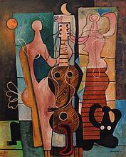 Mario Carreno MUSICOS Painting, Original Work