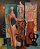 Mario Carreno MUSICOS Painting, Original Work, Mario Carreno, $15,000