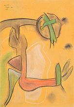Roberto Matta Crayon & Pastel Work, Original Work