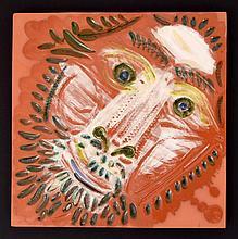 Pablo Picasso TETE DE LION Plaque, Limited Edition