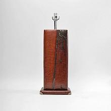 Snakeskin Lamp, Manner of Karl Springer