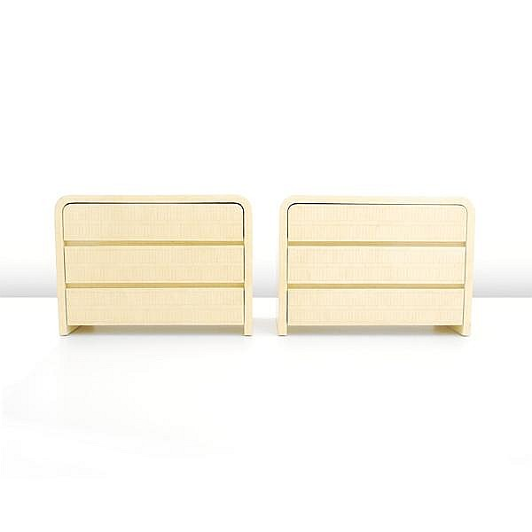 Pair of Bone Chests, Karl Springer