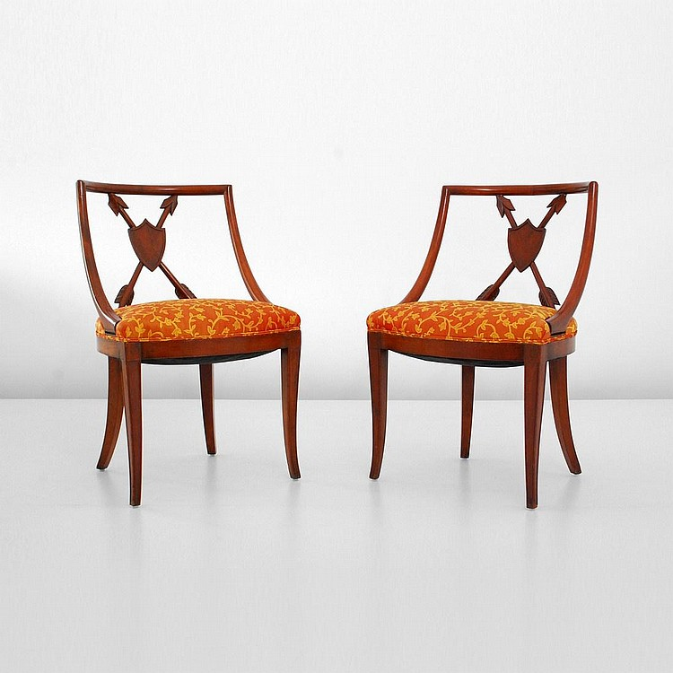 Pair of Neo-Classical Chairs, T.H. Robsjohn-Gibbings