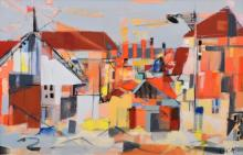 Georges Arditi Abstract Cityscape Painting