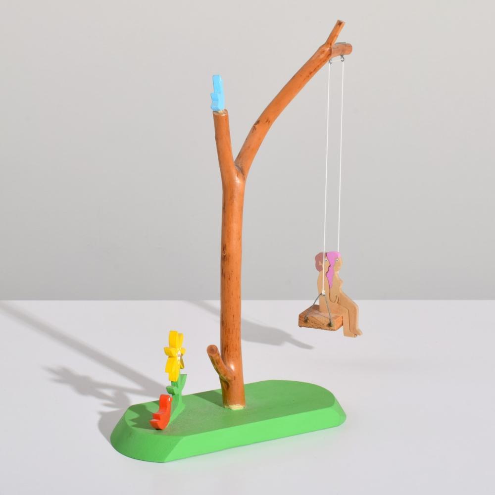 Large William Accorsi Erotic Puzzle Sculpture, Tree Swing