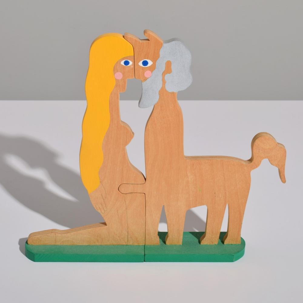 William Accorsi Erotic Puzzle Sculpture, Centaur Theme