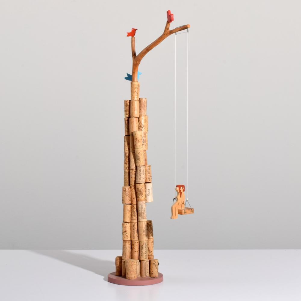 Large William Accorsi Erotic Puzzle Sculpture, WINE LOVERS