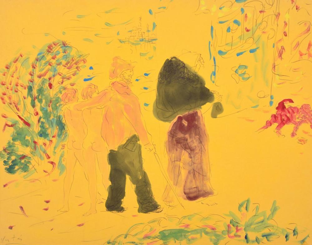 Marcel Vertes Watercolor Painting