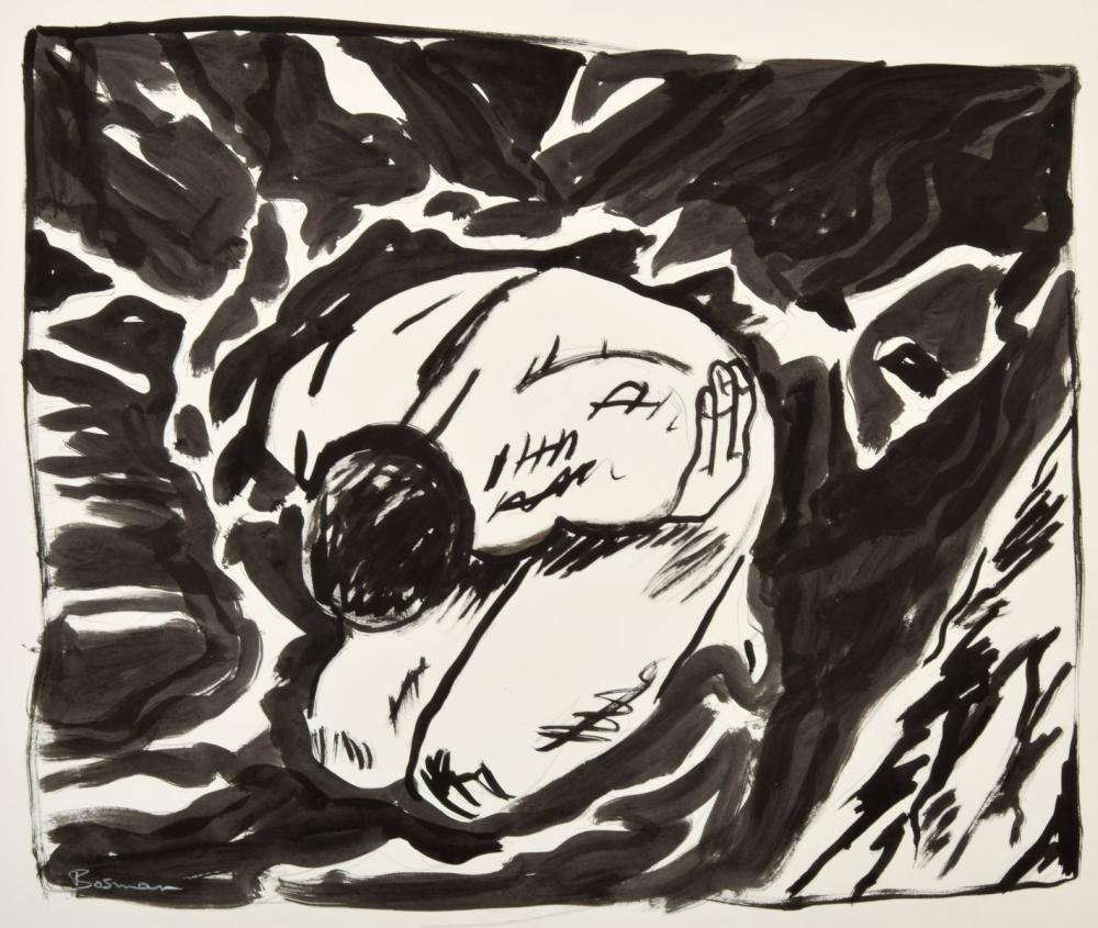 Richard Bosman Ink Painting