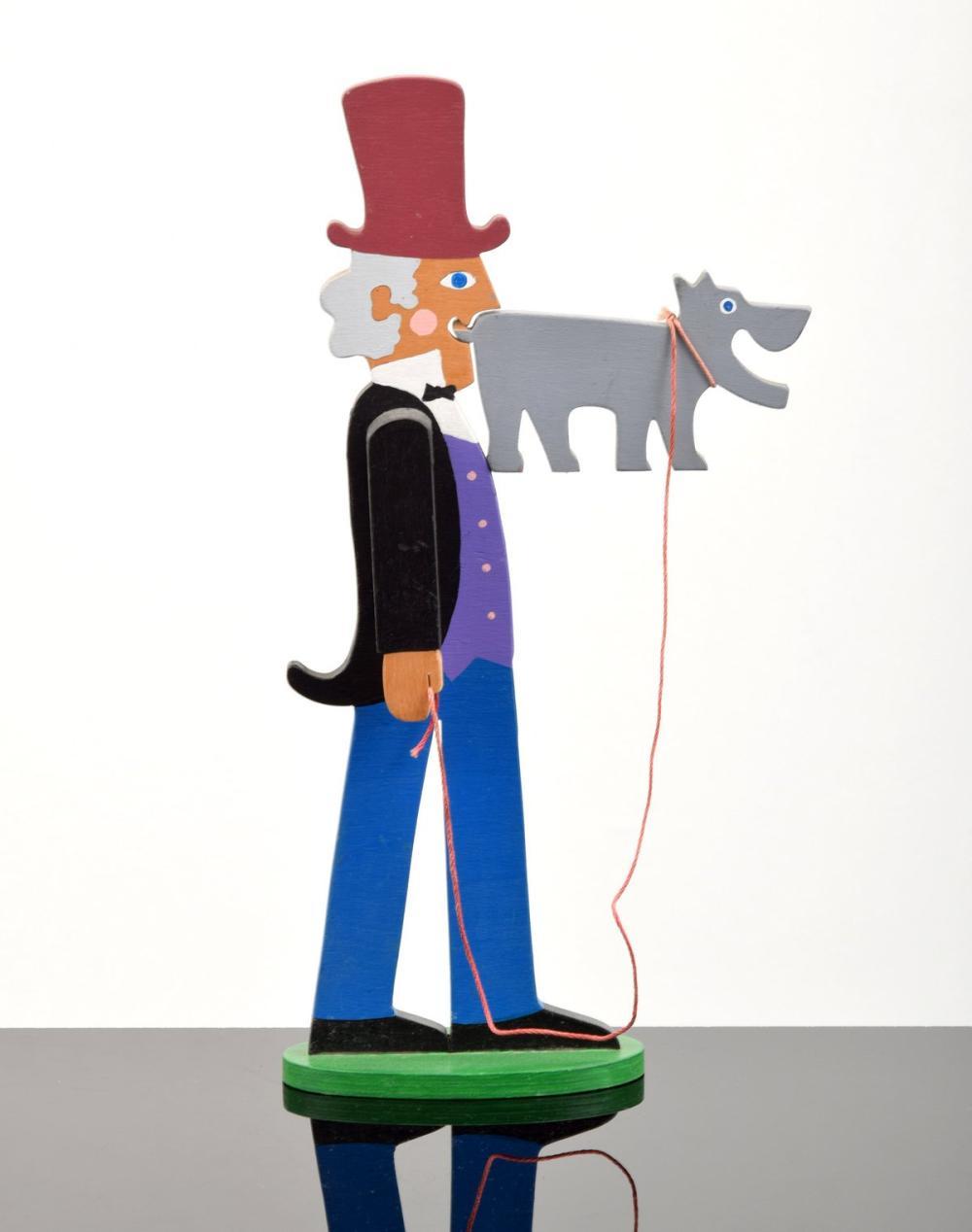 William Accorsi Erotic Puzzle Sculpture, Man & Dog